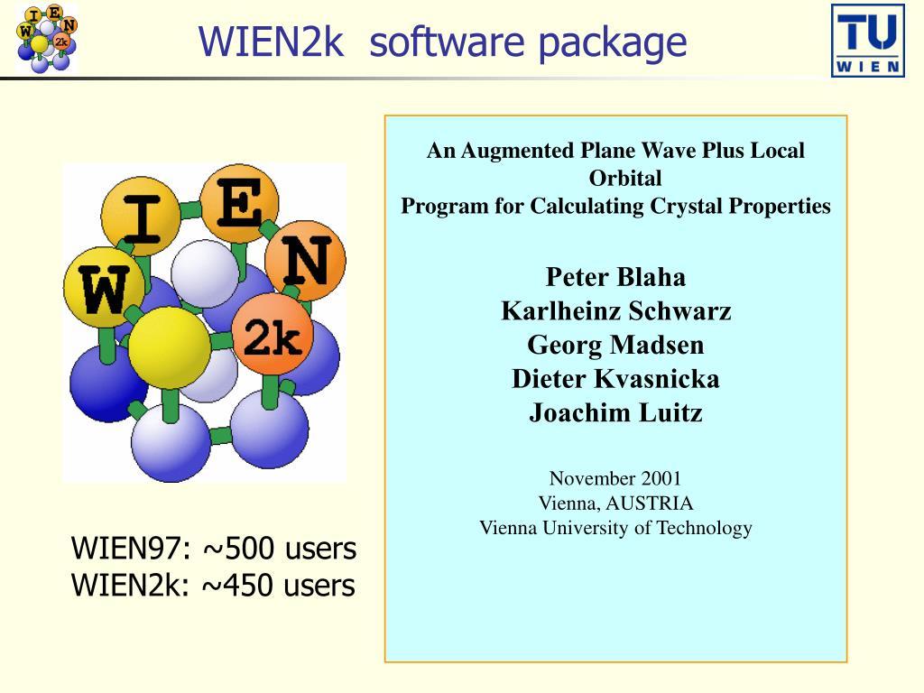 wien2k software package l.