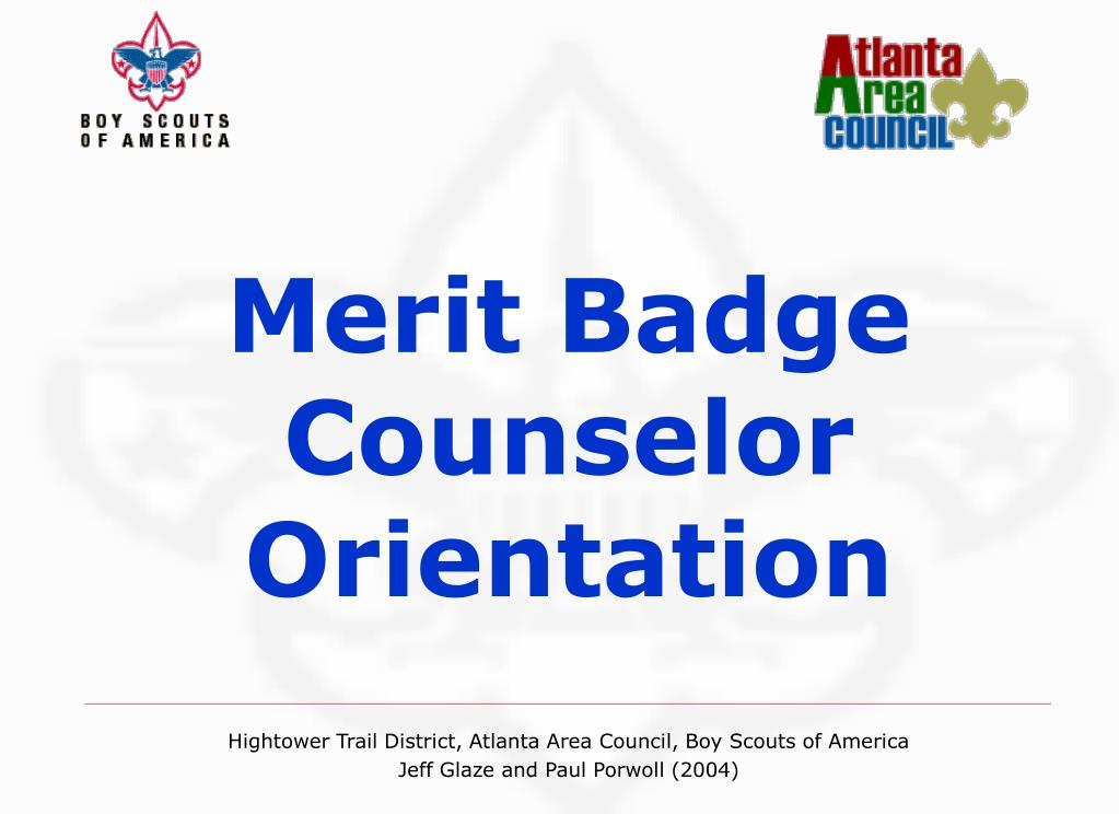merit badge counselor orientation l.