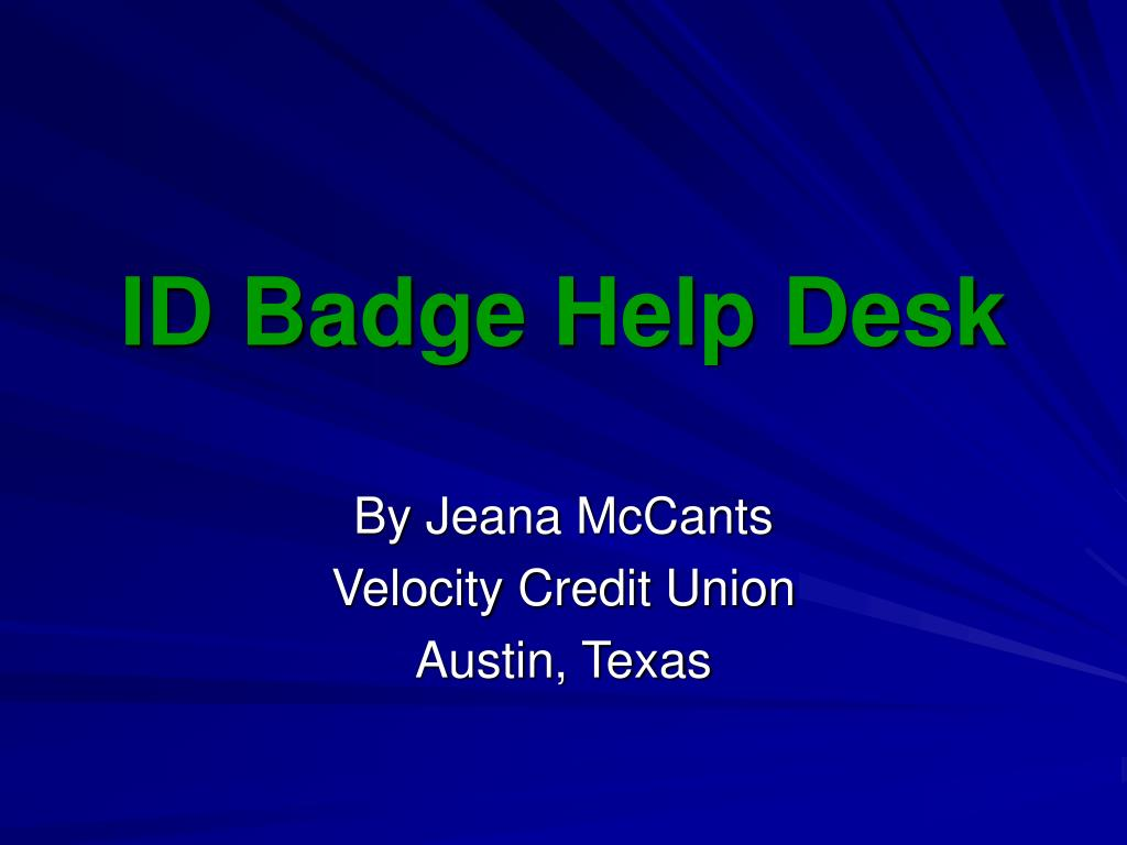 id badge help desk l.