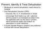 prevent identify treat dehydration