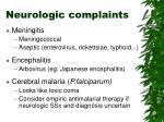 neurologic complaints