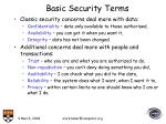 basic security terms