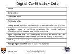 digital certificate info