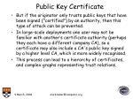 public key certificate33
