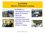 hammer master of blended learning