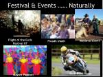 festival events naturally