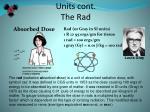 units cont the rad