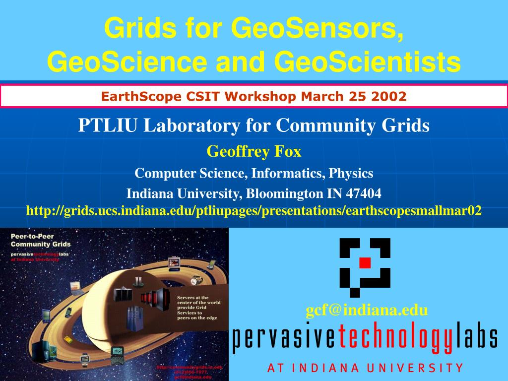 grids for geosensors geoscience and geoscientists l.