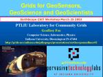 grids for geosensors geoscience and geoscientists