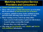 matching information service providers and consumers i