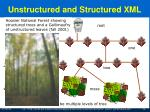 unstructured and structured xml