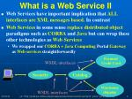 what is a web service ii