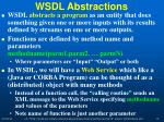 wsdl abstractions