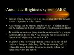 automatic brightness system abs