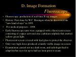 d image formation fluoroscopy