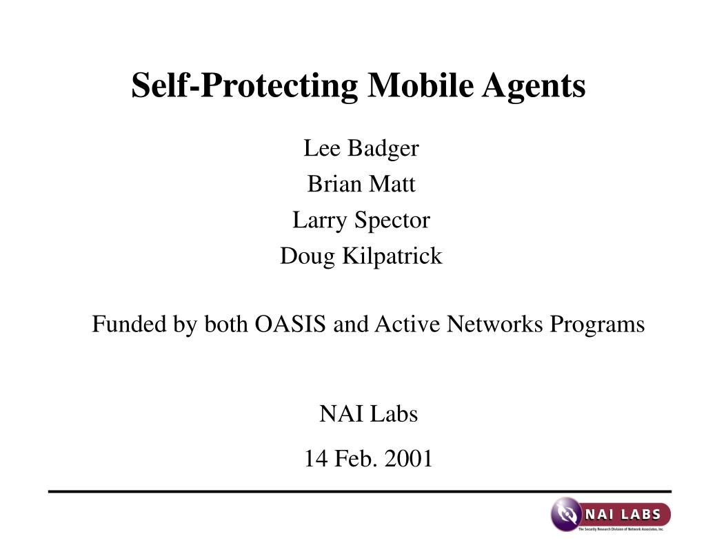 self protecting mobile agents l.