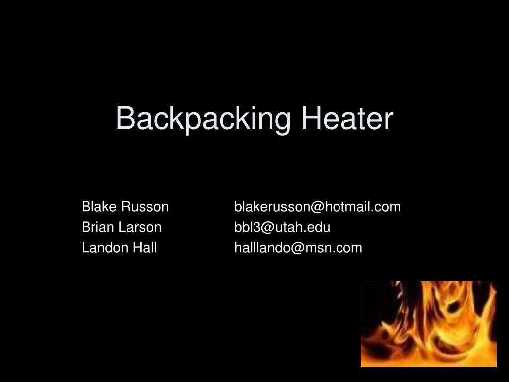 backpacking heater l.