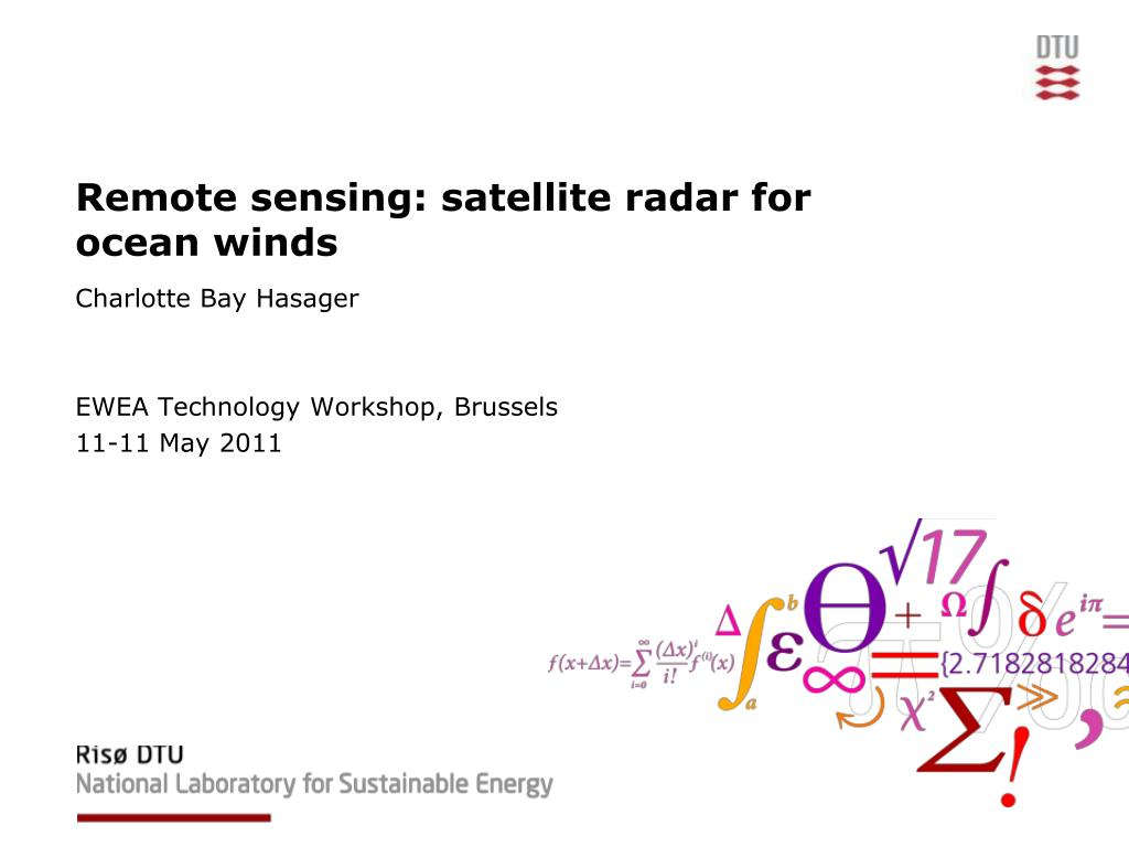 remote sensing satellite radar for ocean winds l.