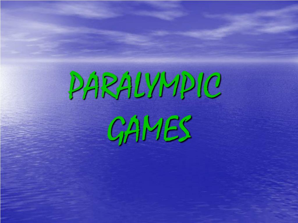 paralympic games l.