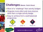 challenges beaver cub scout