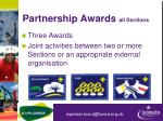 partnership awards all sections