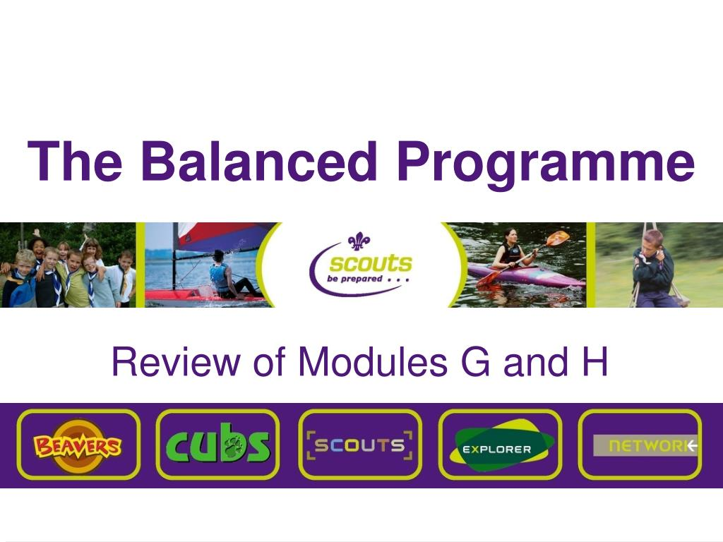 the balanced programme l.