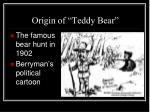 origin of teddy bear