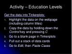 activity education levels16