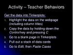 activity teacher behaviors12