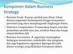 komponen dalam business strategy