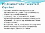 pendekatan praktis it alignment organisasi