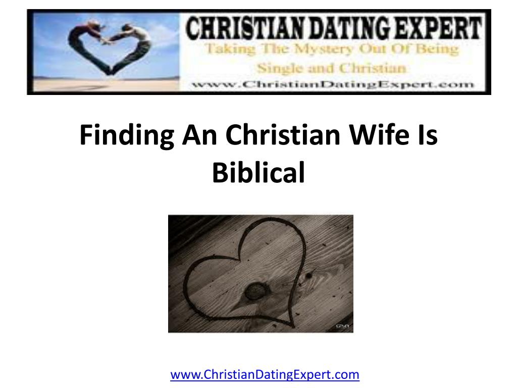 finding an christian wife is biblical l.