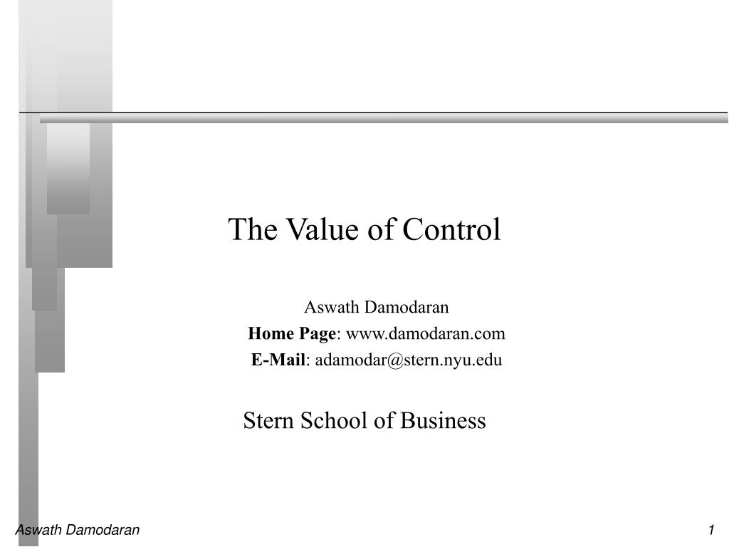 the value of control l.