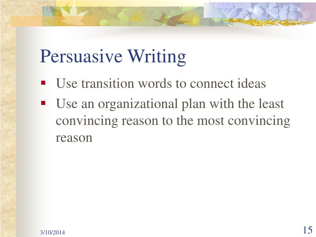 persuasive writing assessment