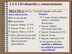 1 1 3 2 evaluaci n y consecuencias pr ctica de los 110 participantes del curso