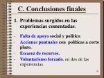 c conclusiones finales