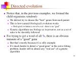 directed evolution