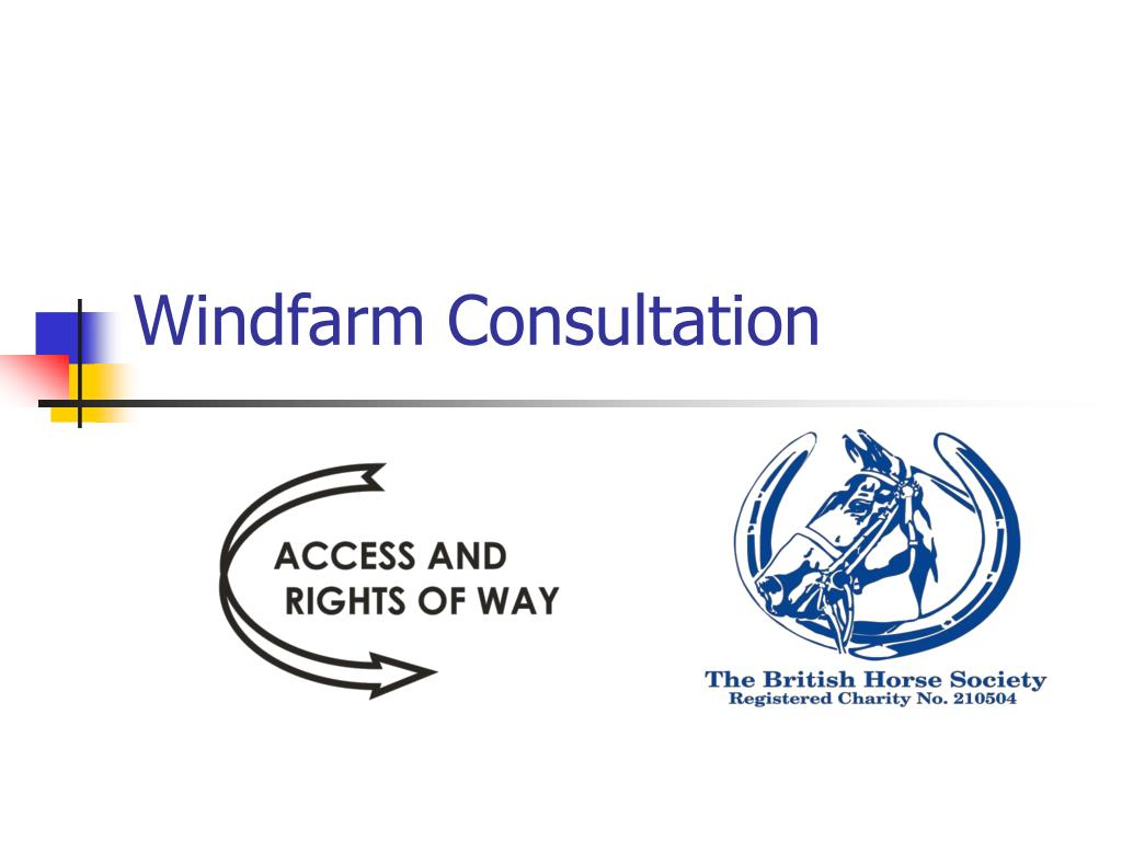 windfarm consultation l.