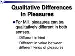 qualitative differences in pleasures
