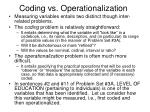 coding vs operationalization
