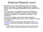 empirical research cont