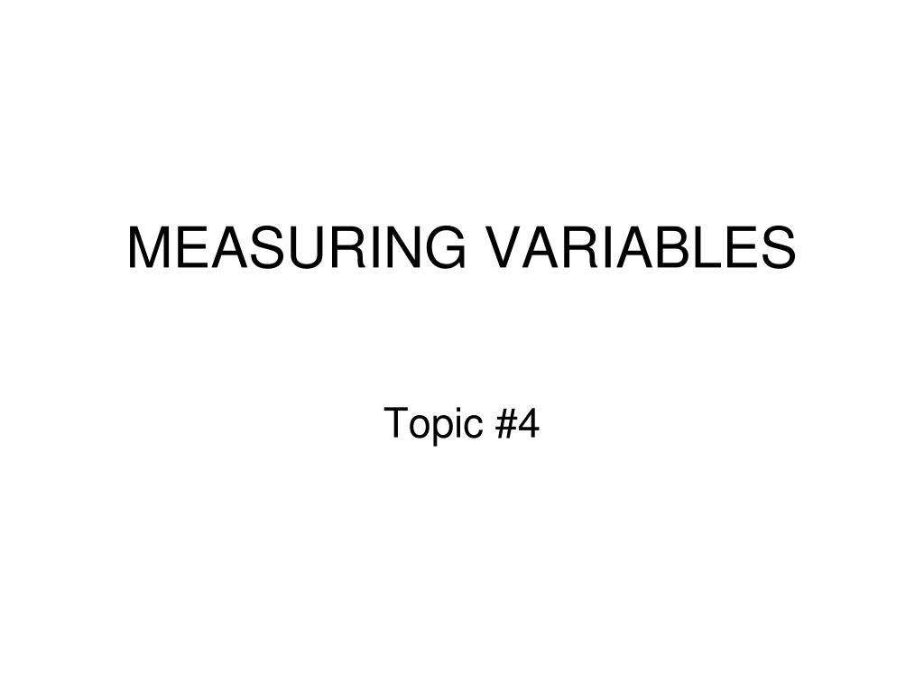 measuring variables l.