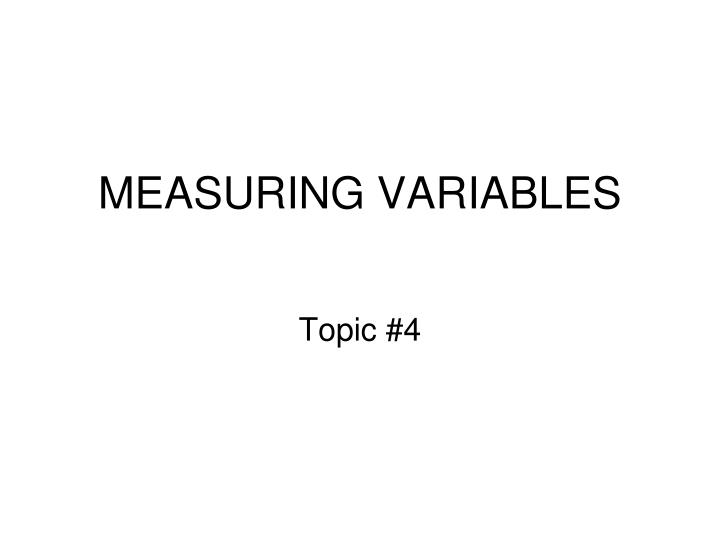 measuring variables n.