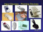 input devices pointing devices