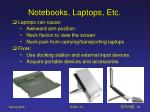 notebooks laptops etc