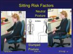 sitting risk factors