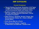 emf exposure current consensus