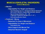 musculoskeletal disorders control measures29