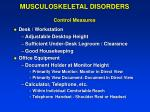 musculoskeletal disorders control measures30