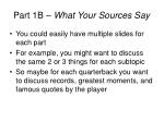 part 1b what your sources say1